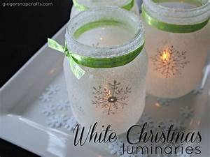 hometalk white christmas mason jar luminaries With what kind of paint to use on kitchen cabinets for ball jar candle holder
