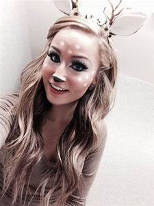 Bambi Kostüm Erwachsene : 75 pretty halloween makeup ideas minimal costume required fasching pinterest halloween ~ Frokenaadalensverden.com Haus und Dekorationen