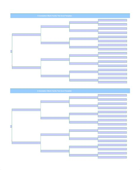 Blank Family Tree Template For by Blank Family Tree Template For Www Imgkid The