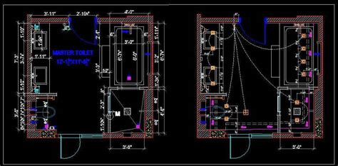 handicapped bathroom design master toilet layout and electrical plan n design