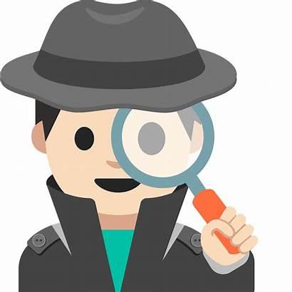 Detective Emoji Skin Clipart Tone Creazilla Transparent