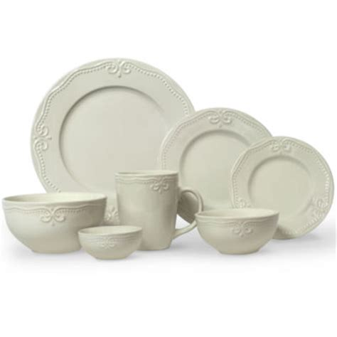 jcpenney home scroll  pc dinnerware set jcpenney