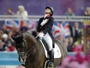 Olympic dressage champ Charlotte Dujardin enjoys sunshine ...