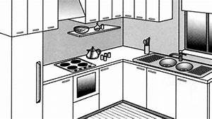 implantation cuisine type ideal tout sur les cuisine en With cuisine en l avec ilot central