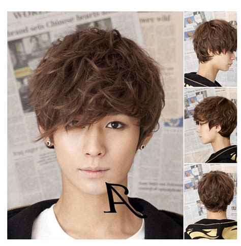 korean version mens fashion wig handsome men  short