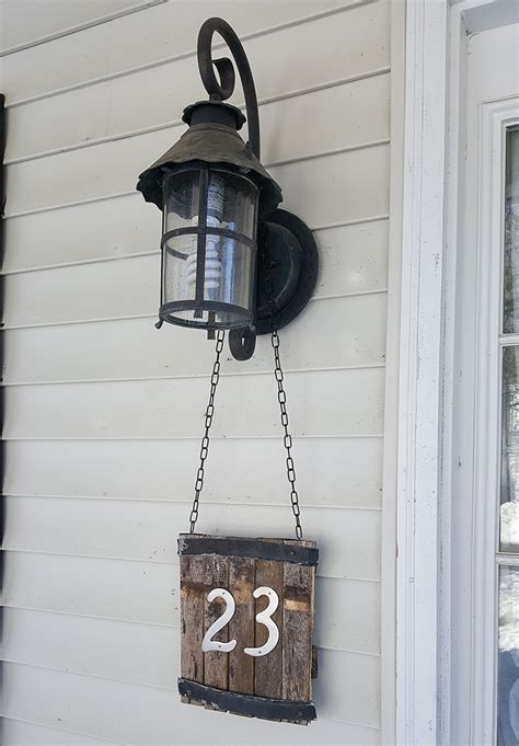 rustic house number sign  honeycomb home
