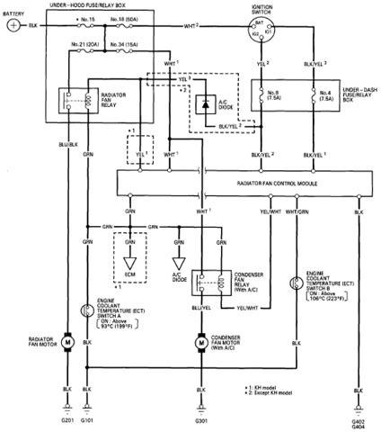 honda accord fan wiring diagram hondaaccordmaestro