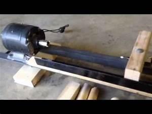 DIY Wood Lathe - YouTube
