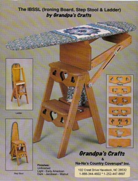 ironing board step stool transformer furniture from the 18th century the bachelor
