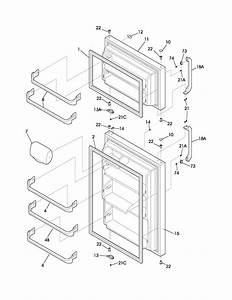Door Diagram  U0026 Parts List For Model Frt21fg3cw2 Frigidaire