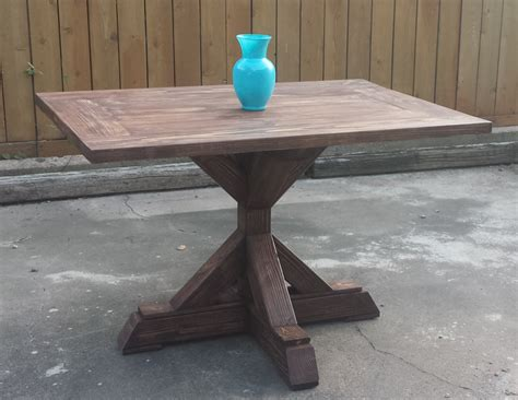 rectangle pedestal table ryobi nation projects
