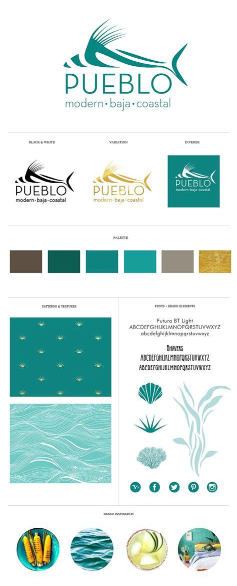 Brand Identity  Branding System For Pueblo Modern Baja