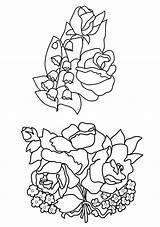 Coloring Flower Pages Valley Lily Roses Drawing Flowers Rose Lilies Preschool Drawings Printable Bud Bouquets Buttercups Getdrawings Clipartqueen Getcolorings Template sketch template