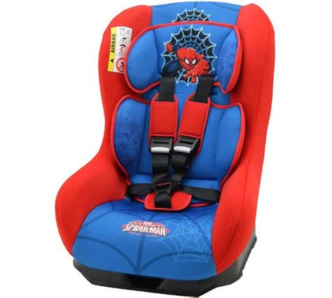 Blue Number 4 513 Cars by Buy Marvel Spider Driver Car Seat Blue At Argos Co