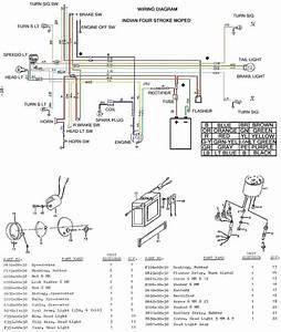 Dan U0026 39 S Indian Moped Restoration Blog  Colored Wiring Diagram