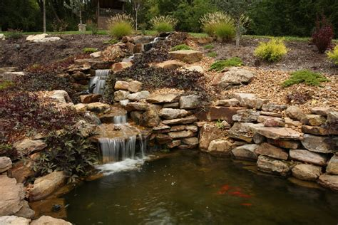 pond with waterfall koi pond and water feature installation waterfall installation pond market