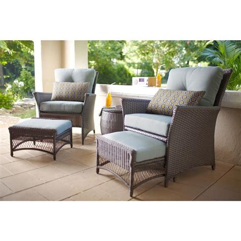 blue hill 5 woven patio chat set the open box shop