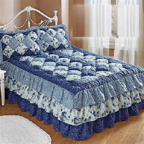 puff bedspreads puff top quilted bedspread microfiber cozy floral attached