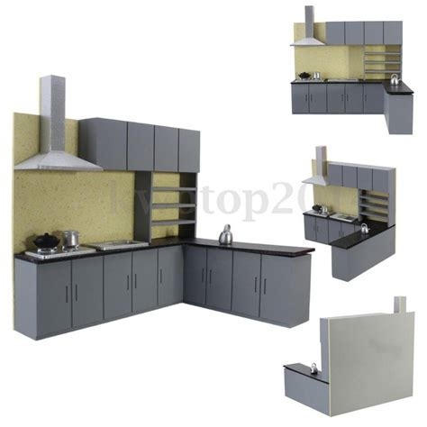 Miniature Kitchen Cabinet Set Model Kit Furniture for Art