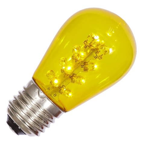 vickerman 34661 s14 medium screw base yellow transparent