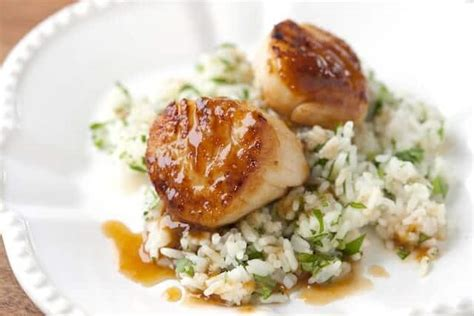 Scallops With Apricot Sauce • Steamy Kitchen Recipes