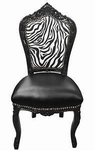 Chaise Baroque Noir : chaise de style baroque rococo simili cuir noir dossier z bre et bois noir ~ Teatrodelosmanantiales.com Idées de Décoration