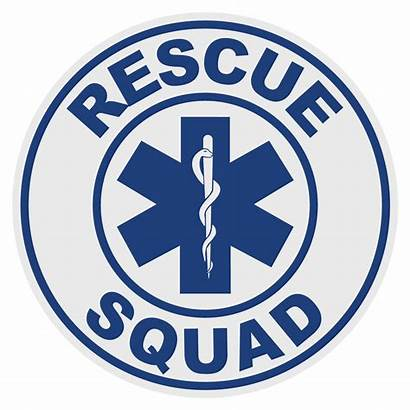 Rescue Squad Jaws Decal Decals Round Emergency