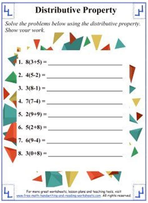 25 best ideas about distributive property on