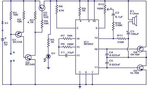 Liquid Water Sensor Circuit With Alarm