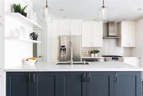 navy kitchen island  wood top design ideas
