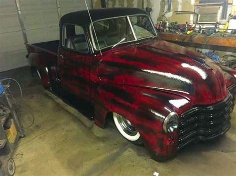 1950 chevy rat rod rod ratrod hotrod custom lead sled bagged 3100 pickup