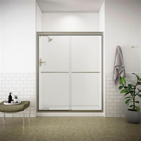 kohler fluence shower door kohler fluence 59 5 8 in x 70 5 16 in semi frameless 6685