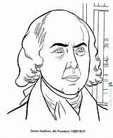 Coloring Madison James President Presidents Printable States Usa Printables History United Patriotic Drawings Sheets Government Getcolorings Facts 4th Printing George sketch template