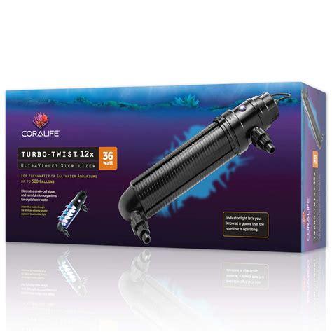coralife turbo twist uv sterilizer 3x 9 watt 6x 18 watt