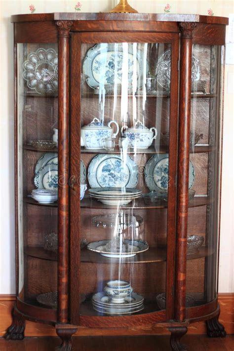China Cabinet Used by Antique China Cabinet Stock Photo Image Of Hardwood