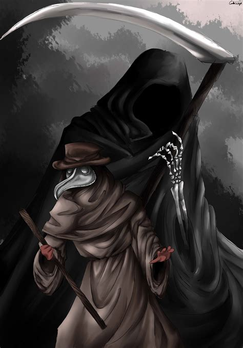 Plague Doctor and Grim Reaper by CamiiW on Newgrounds