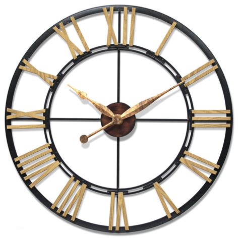 uttermost clock infinity instruments cologne 45 oversized large wall clock