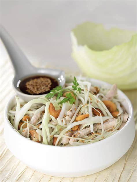 bouillon blanc en cuisine salade de chou blanc au poulet sésame et noix de cajou