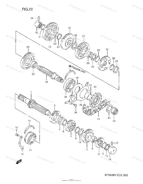 suzuki motorcycle 1996 oem parts diagram for transmission