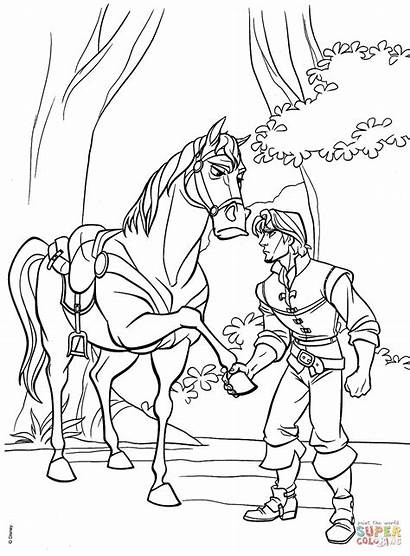 Coloring Pages Flynn Maximus Rapunzel Tangled Disney