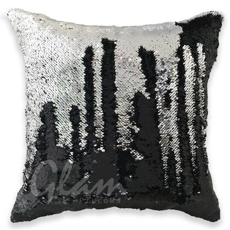 black silver reversible sequin glam pillow glam pillows
