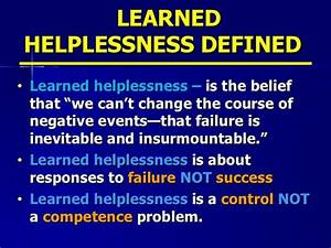What Is The &qu... Helpless Definition