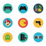 Gaming Icon Games Gamers Vector Gamer Packs