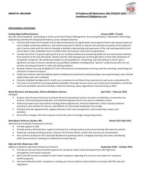 Exle Consulting Resume by Consulting Resumes 19 Images Quickbooks Resume Sles