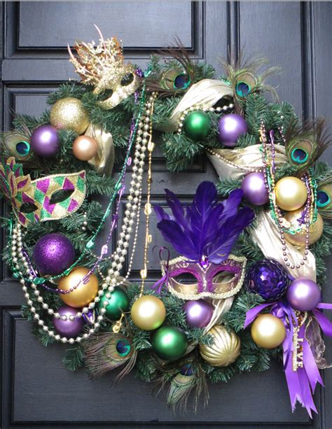 mardi gras wreath pinspiring wreaths pinterest mardi