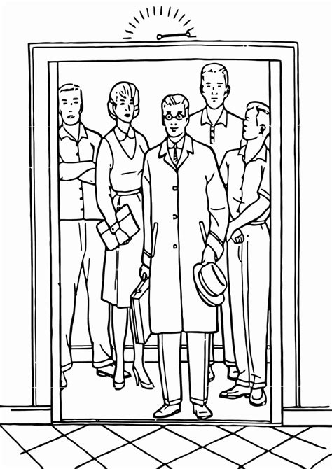 elevator coloring pages coloring pages    print
