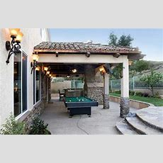 This Outdoor Living Area Brings The Rec Room To The
