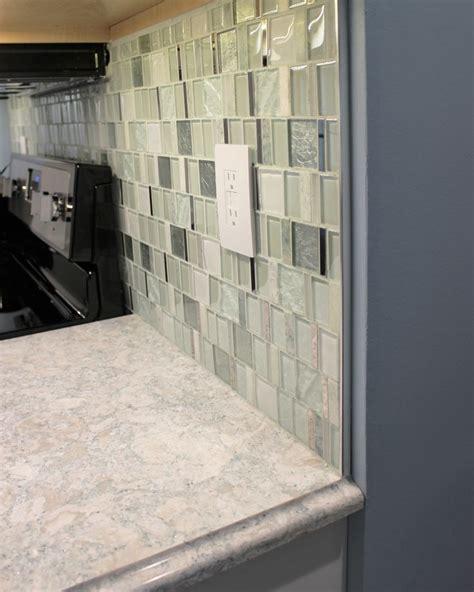 metal  cap schluter  mosaic kitchen tile backsplash