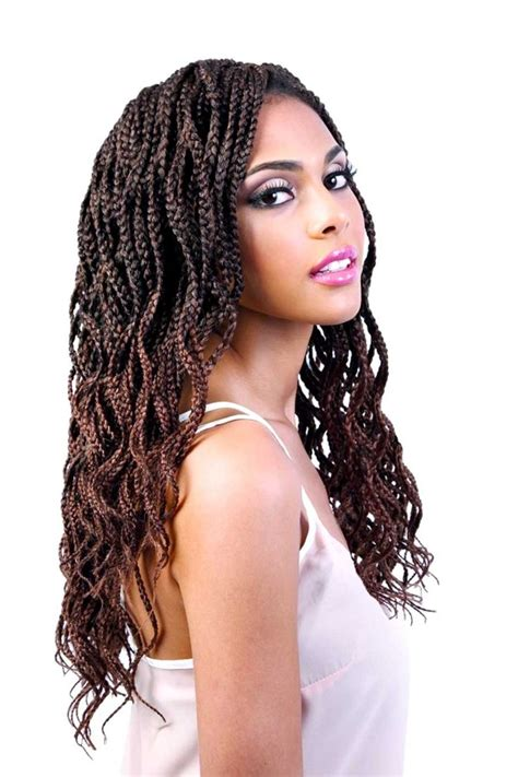 Braid Hairstyle by Motown Tress 2x Wavy Box Braid Crochet Braiding