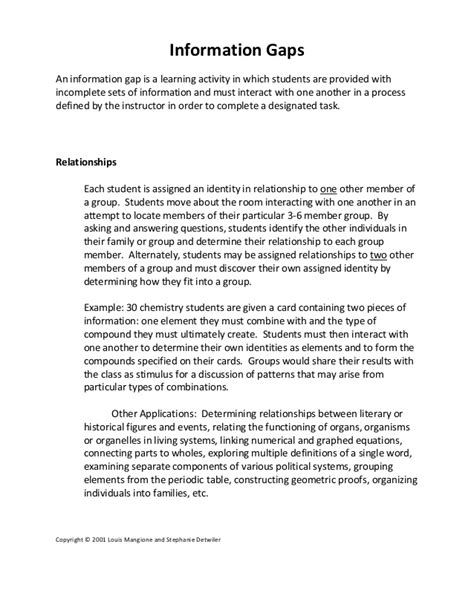 Information Gaps 2014 Integrating The Science Of Learning